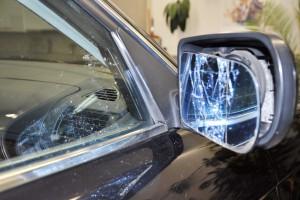 ein Unfall mit zwei Glasschaeden